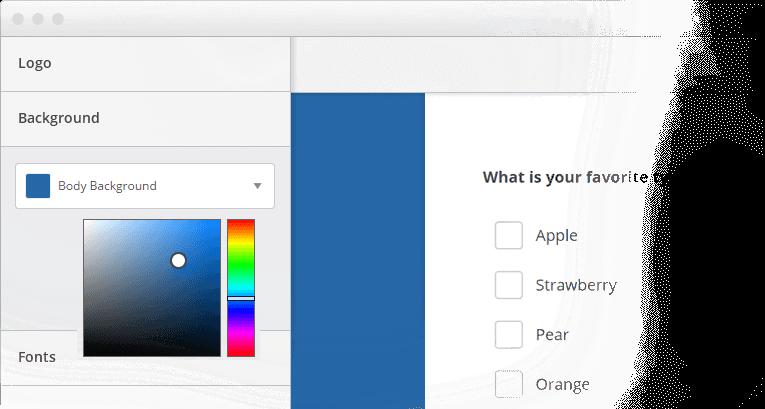 Customize your survey design